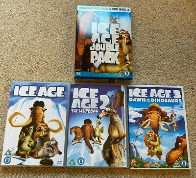 Bundle Joblot Ice Age DVDs 1 2 & 3 Great Condition. Children's Animation Movies