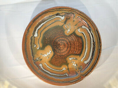 Australian Studio Pottery Bowl Charger Plate By Warrandyte Potter Phyl Dunn