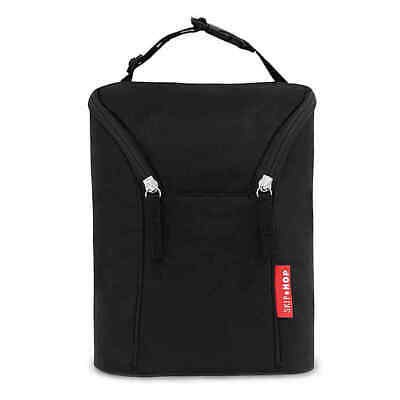 BRAND NEW Skip Hop Grab & Go Double Bottle Bag (Black)