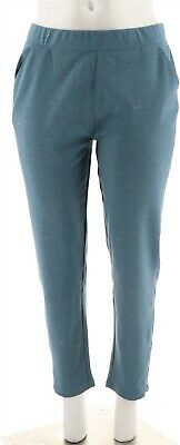 Isaac Mizrahi SOHO Space Dye Ankle Pants Zipper Storm Blue XS NEW A279051