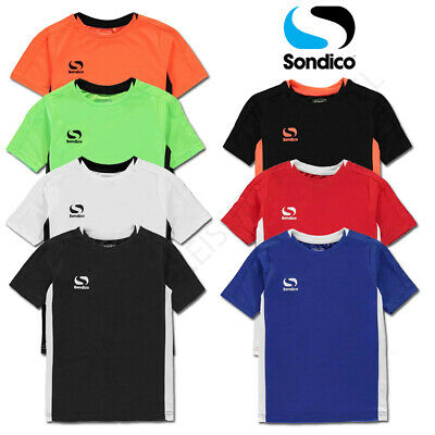 Boys T Shirts SONDICO Junior Sports Tee Kids Football Running Top Age 9 10 11 12