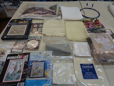 Assorted Counted Cross Stitch Fabric Kits Accessories