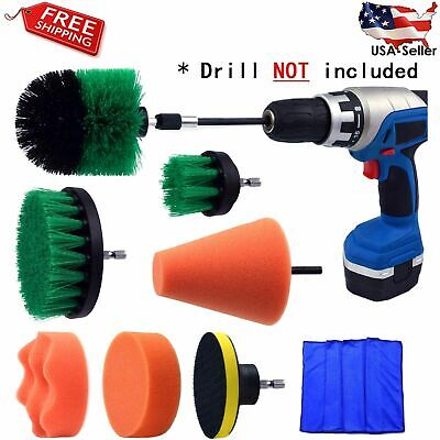 3pcs//set Car Electric Brush Hard Bristle Detailing Kit Supply Care Clean Au D5E5