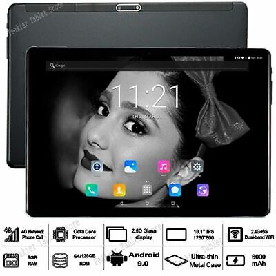 10 inch Android 9.0 RAM 8G ROM 128G TABLET 2.5D Octa Core LTE Dual Sim Card WIFI