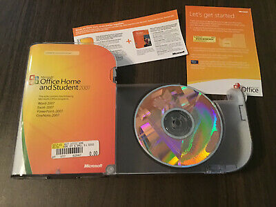 Opened EUC Microsoft Office Home and Student 2007