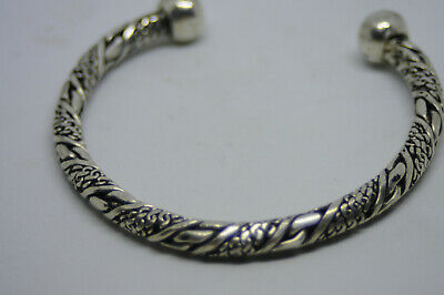 Ancient Viking twisted bracelet with awesome large ends HIGH UNIQUE DETAILS