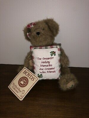 Boyds Harvest /& Holiday Kringlebeary/'s Christmas  Someone Special Present Pillow