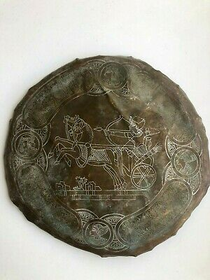 Rare Unique Ancient Antique Egypt Hand Made Old Art wars Pharaohs Wall Hanging