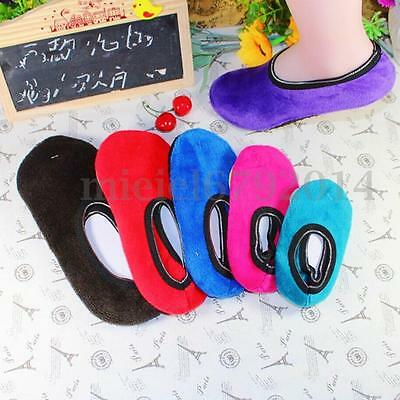 1 Pair Women Men Girls Child Non Slip Slipper Socks Fleece Gripper Slippers