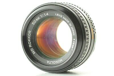 【AS-IS】Minolta MD ROKKOR 50mm f/1.4 MF Lens for MD Mount from Japan