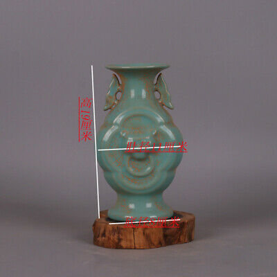 Chinese ancient antique hand make sky cyan glaze vase Porcelain Decoration