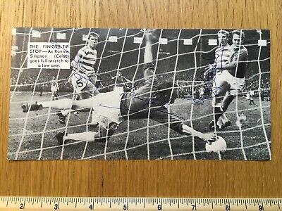 Billy McNeill Ronnie Simpson Tommy Gemmell signed picture Celtic Lisbon Lions