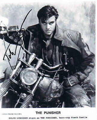 """Dolph Lundgren 1957- genuine autograph photo 8""""x10"""" signed IN PERSON"""