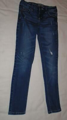 Girls Size 10 SLIM Justice Jeans Mid Rise Super Skinny Fit Distressed