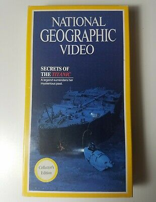 NATIONAL GEOGRAPHIC Video SECRETS of The TITANIC Collector's Edition VHS in Case