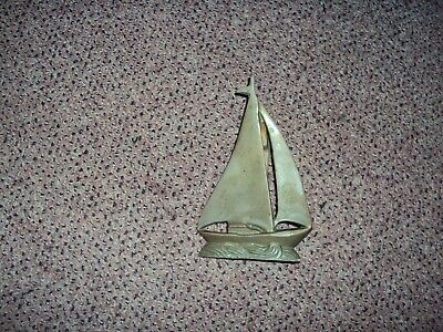 Vintage Penco Brass Sailboat Door Knocker