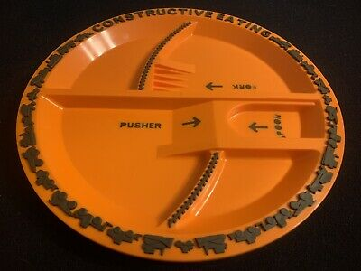 Constructive Eating Construction Zone Divided Child Plate (No Utensils)