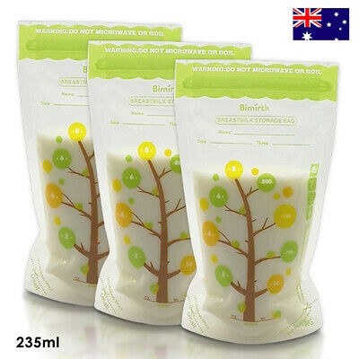 112Pcs 235ML Baby Breast Milk Storage Bags Safe Food Storage Sealed Milk Pouches
