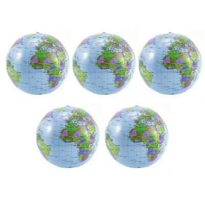 5-10PCS Inflatable Globe Education Geography Toy Map Balloon Beach Ball 40cm