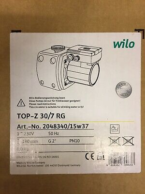 Wilo TOP-Z 30/7 RG Bronze Circulating Pump 230v BRAND NEW IN UNOPENED BOX
