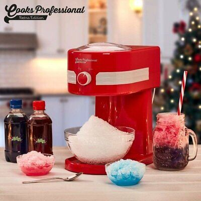 Cooks Retro Professional Ice Snow Cone Frosty / Cocktail Slushy Maker D9932