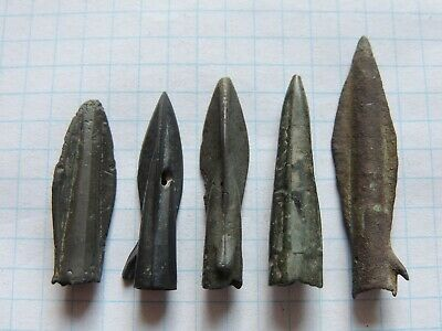 5 Ancient Bronze Arrows