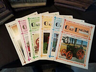 The Gas Engine Magazine 1981 Issues 1-to 6 Complete Year Illustrated Clean
