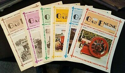 The Gas Engine Magazine 1980 Issues 1-to 6 Complete Year Illustrated Clean