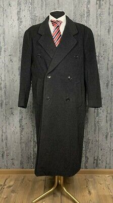 Men's Hugo Boss Casual Gray Double Breasted Wool Coat Size 48