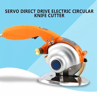 Servo Direct Drive Electric Circular Knife Cutter Cloth Fabric Cutting Tool 220V
