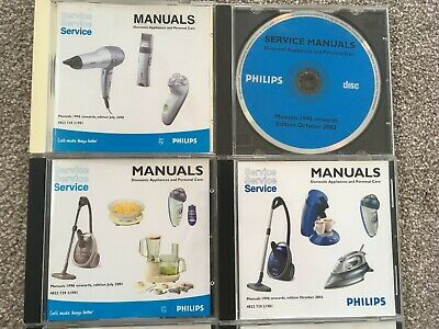 Philips Service Manuals Domestic Appliances & Personal Care CDs 1996 onwards