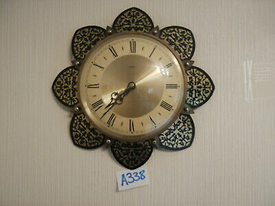 METAMEC STARBURST SUNBURST RETRO VINTAGE WALL CLOCK Excellent condition & workin