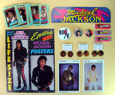 Michael Jackson 14 Éléments 1980s Earring-Pins-Cards-Photo
