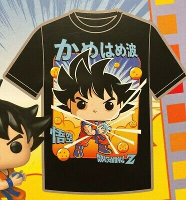 Funko Pop Tees Dragon Ball Z Goku T-Shirt Exclusive Size Large GameStop Sealed