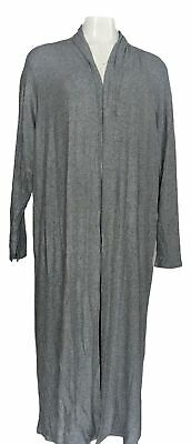 Lisa Rinna Collection Women's Sweater Sz XL Open Front Cardigan Blue A349735