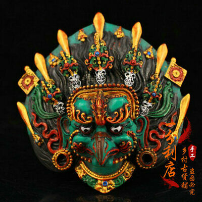 Exquisite Chinese antiques handmade Pure copper roc bird Mask v105