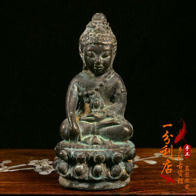 Exquisite Chinese handmade antiques Pure copper Buddhism statue v65