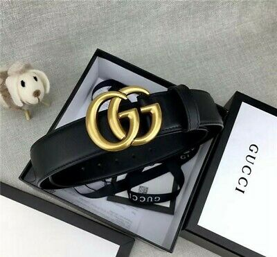 Gucci Womens Classic GG Logo Notch Belt Black Patent Leather