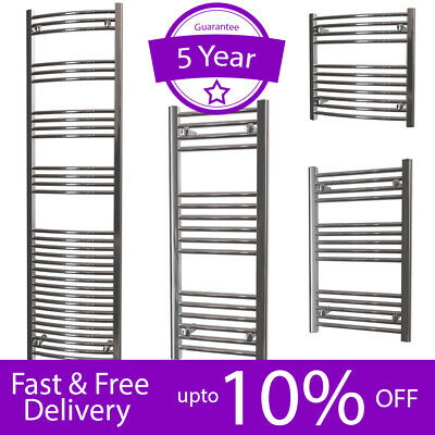 Bathroom Straight Curved Ladder Heated Towel Rail Polished Chrome Radiator