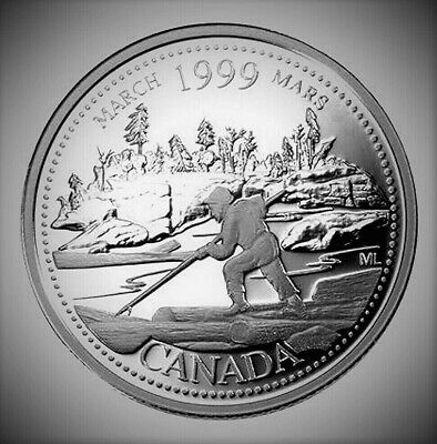 1999 Canada Millennium Series March 25 Cents *Proof Like* Quarter!!