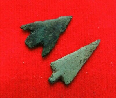Ancient rare bronze arrows of  Celts