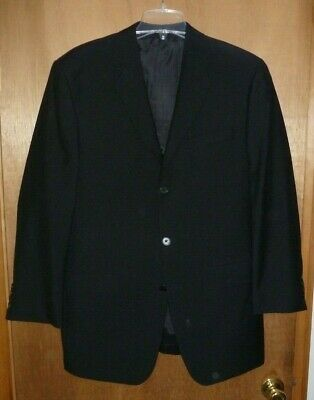 DKNY 2 Piece Wool Suit Men's Black - Size 40 L