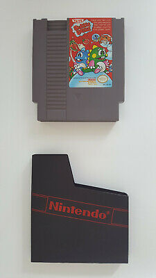 Bubble Bobble Nes Game Cartridge & Slip Cover Case Clean Tested