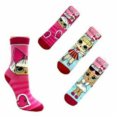 Girls LOL Surprise Socks 3 Pairs girls socks gift NEW FREE UK P&P