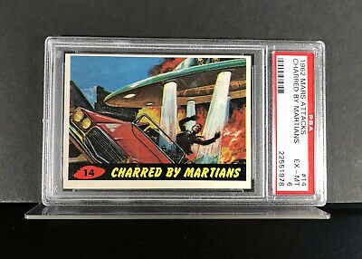 1962 Mars Attacks #14 - CHARRED BY MARTIANS - PSA 6 EX-MT