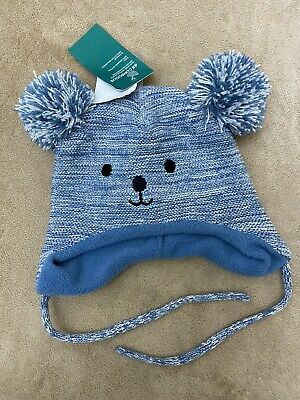 Disney Winnie The Pooh Baby  Winter Hat and Mittens Set 0-3 Years 44-46 cm