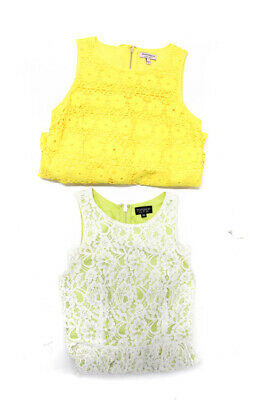 Juicy Couture Topshop Womens Dress Yellow Green White Lace Size 4 Lot of 2