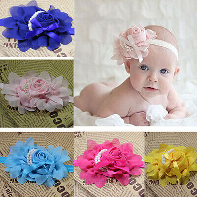 AM_ HD_ ALS_ Kids Baby Girl Toddler Rose Flower Headband Hair Band Headwear Head