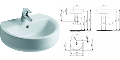 Ideal Standard Connect Basin e714601 Sphere 50 x 42 cm white