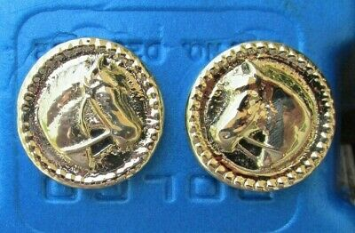 Solid Brass Horse Head Rosettes Bridle Headstall